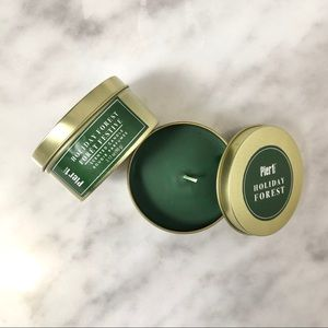 New Pier 1 Holiday Forest Scented Candle Tin Set